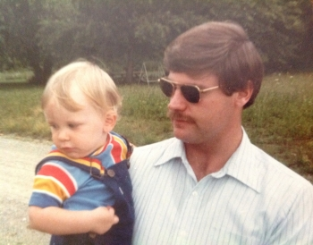 There was a day Scott had no 'stache.  Check him out and follow him, too, as he tries hard to match the old man.