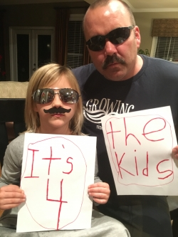 Staches look sweet on everyone!